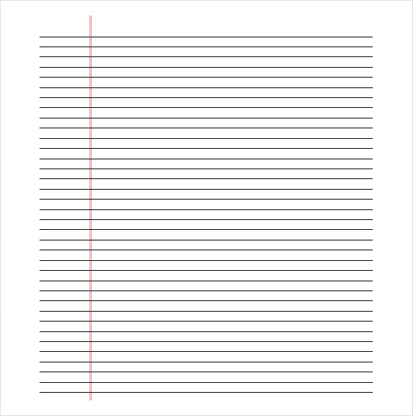 printable lined paper pdf