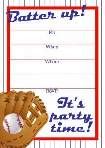 printable menu template baseball ticket invitation template best images of free baseball printable invitation templates