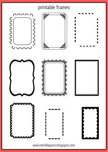 printable menu template printable frames