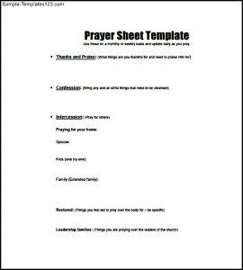 printable prayer list free prayer list template