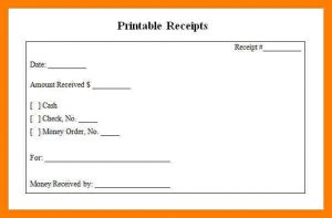 printable rent receipts blank receipts receipts