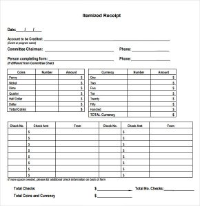 printable rent receipts printable itemized receipt