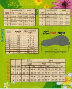 printable shoe size chart kids size j
