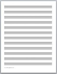printable staff paper free music staff paper