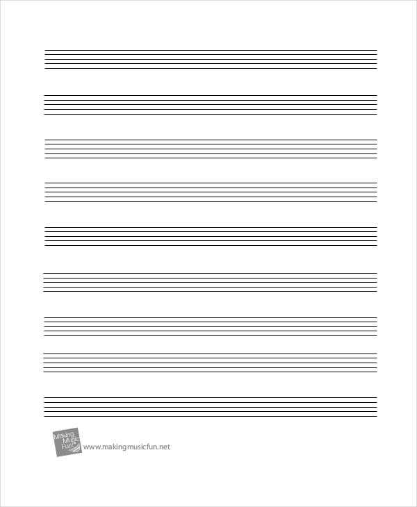 printable staff paper