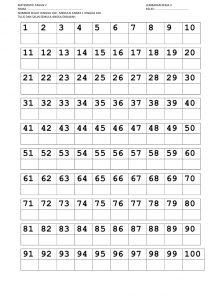 printable ten frames nombor trace line