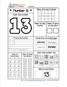 printable ten frames number worksheets number