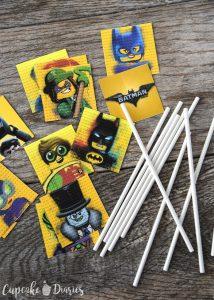 printable time card lego batman cupcake toppers