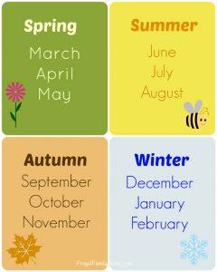 printable time card teach seasons cards