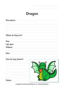 printable time sheet dragon worksheet