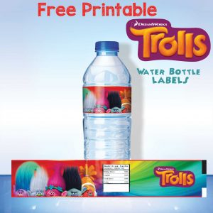 printable water bottle labels free printable trolls water bottle labels applied