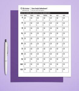 printable weight loss chart weight loss charts thefittutor