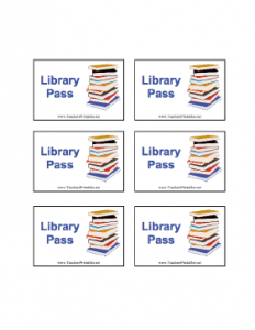 printed newsletter template library pass