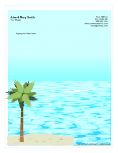 printed newsletter template personal letterhead tropical