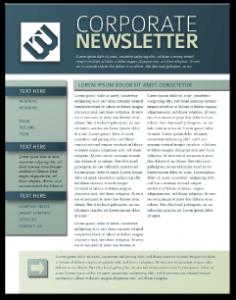 printed newsletter templates newsletter template print