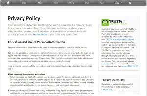 privacy policy example apple privacy policy