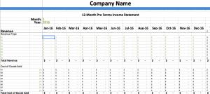 pro forma income statement template pro forma income statement
