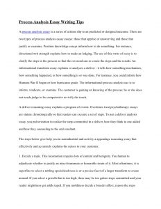 process analysis essay process analysis essay writing tips