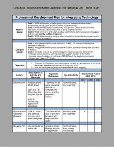 professional development plan professional development plan integrating technology 1 728