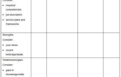 professional development plan template individual professional development plan
