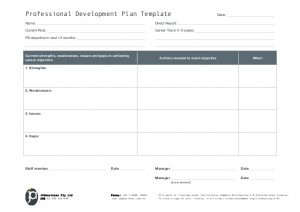 professional development plan template jpabusiness professional development plan template