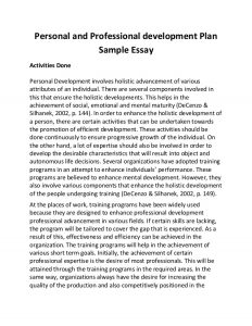 professional development plans example personal and professional development plan sample essay