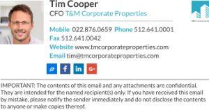 professional e mail templates company sig one