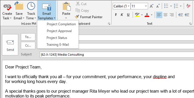 professional e mail templates