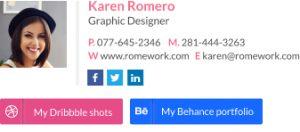 professional email signature student creative sig three