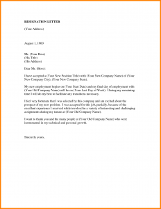professional letter of resignation professional resignation letter template