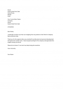 professional letter of resignation professional resignation letter template professional two weeks notice
