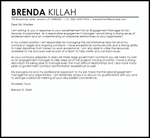 professional reference letter template engagement manager