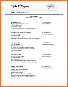 professional reference list template professional reference template reference page examples professional references list template hyxvgf