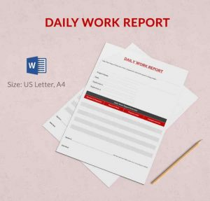 professional report templates daily observation report min x