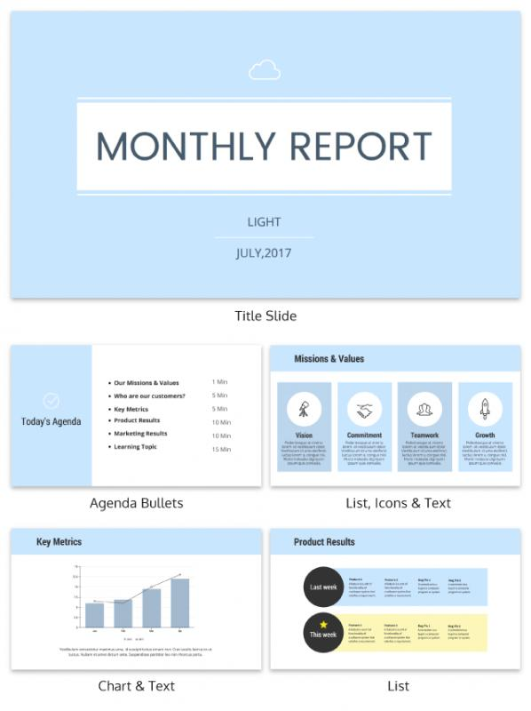 professional report templates