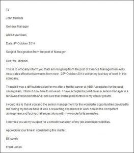 professional resignation letter sample professional resignation letter sample