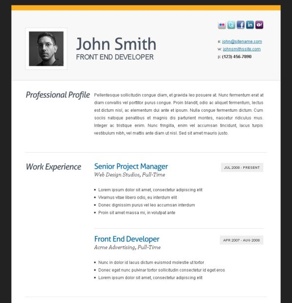 Professional Resume Formats Free Download | Template Business