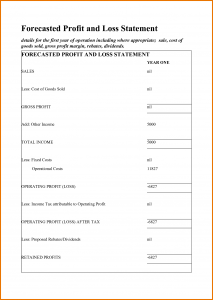 profit and loss template for self employed profit and loss statement for self employed