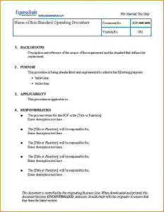 profit loss statement template standard operating procedure examples teknoswitch sop template sample l ddcbcd
