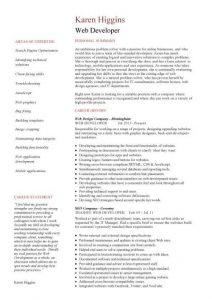 programmer resume example pic web developer resume