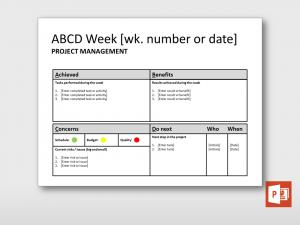 progress report format tt weekly abcd report