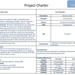 project charter example example of six sigma project charter on productivity improvement