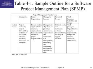 project communication plan example chap project integration management