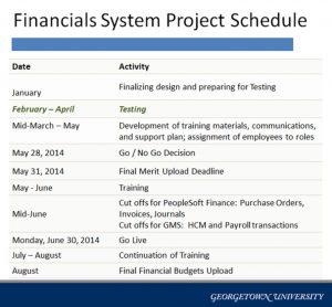 project implementation plan financials project schedule