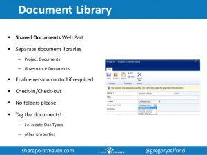 project management documents utilizing sharepoint for project management