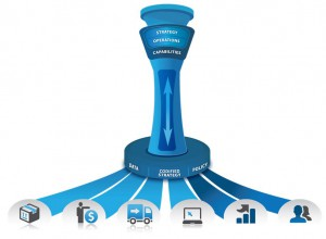 project management icon control tower x