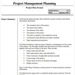 project management plan example project management plan template