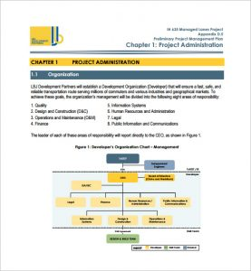 project management plan template preliminary project management plan example pdf free download