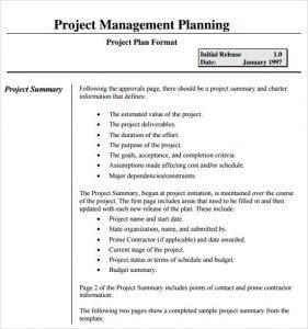 project management plan template project management plan template