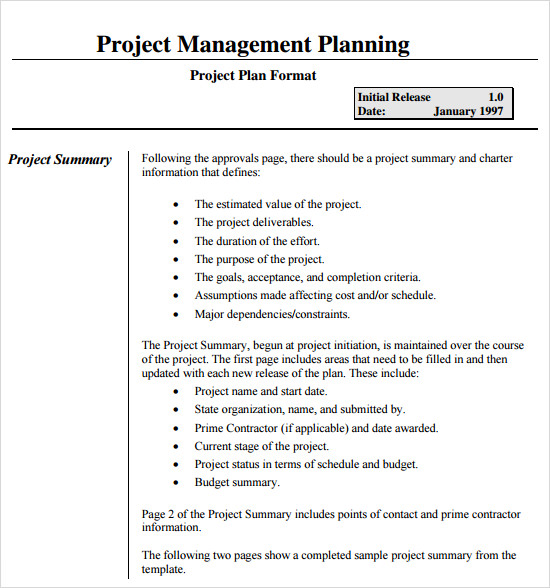 Project Management Plan Template | Template Business